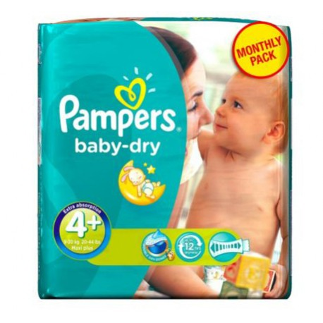 48 Couches Pampers Baby Dry Taille 4 A Bas Prix Sur Les Looloos