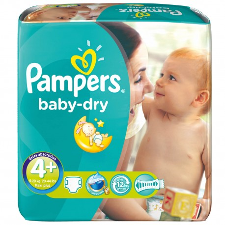 42 Couches Pampers Baby Dry Taille 4 En Solde Sur Les Looloos