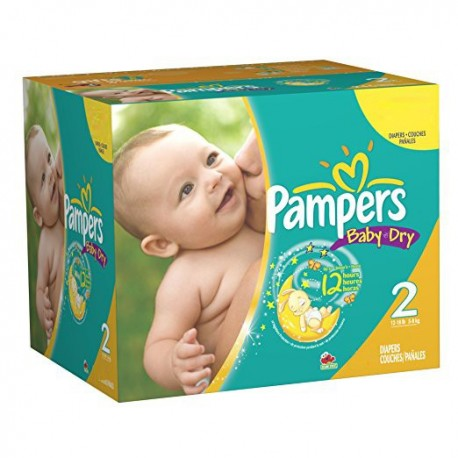 396 Couches Pampers Baby Dry Taille 2 En Solde Sur Les Looloos