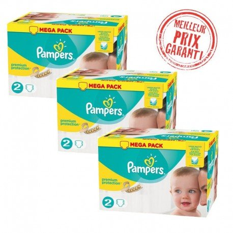 Pack Jumeaux 720 Couches Pampers New Baby - Premium Protection taille 2 sur  Les Looloos 016adc27ec7