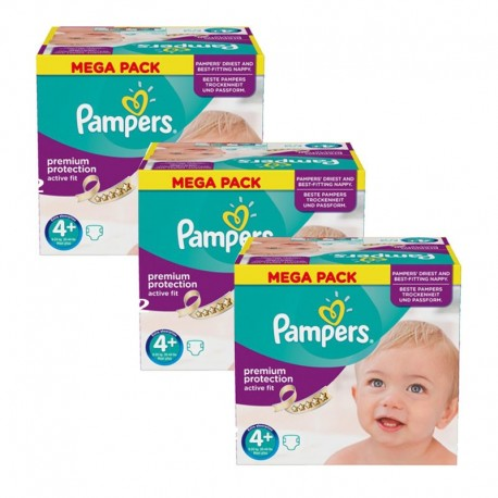 186 Couches Pampers Active Fit Taille 4 A Petit Prix Sur Les Looloos